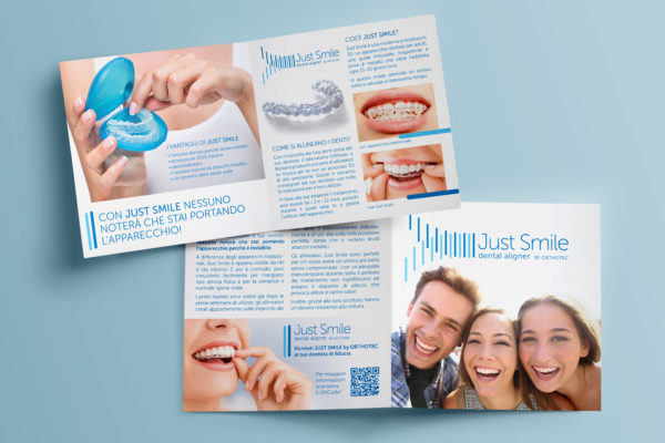 Brochure and Dispaly – Just Smile dental aligner